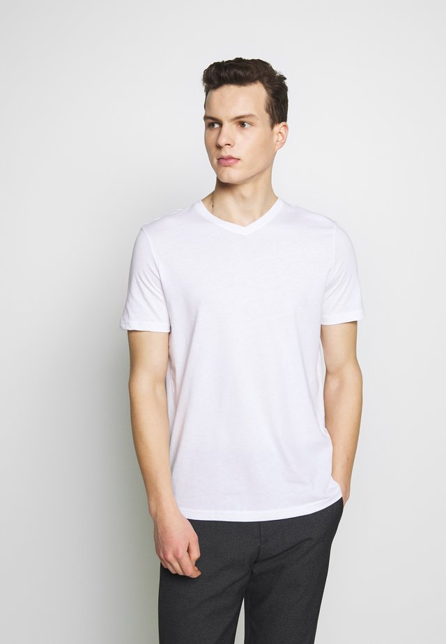 BASIC VNECK - T-shirt basic - white