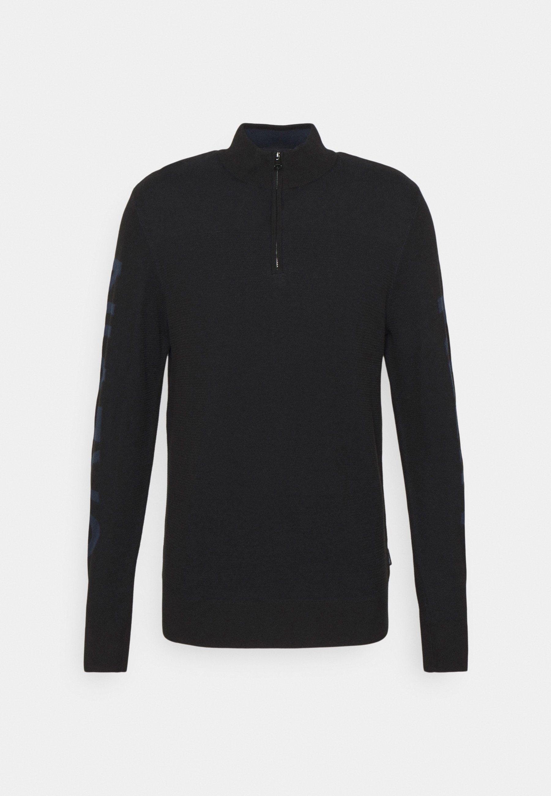 Homme TWO TONE STRUCTURE QUARTER ZIP - Pullover