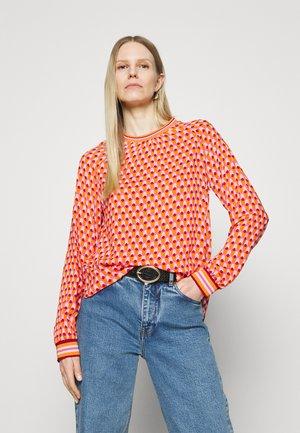 Langærmede T-shirts - pink/orange