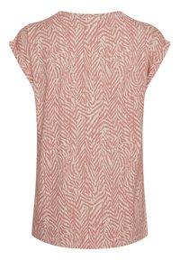 Saint Tropez - Print T-shirt - terra cotta zig zebra - 5