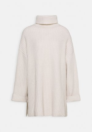 KEIKO TURTLENECK - Strikpullover /Striktrøjer - whisper white