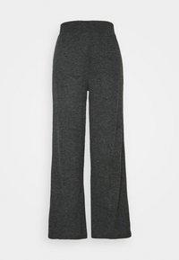 ONLY - ONLKAYLEE PANTS - Trousers - dark grey melange - 0