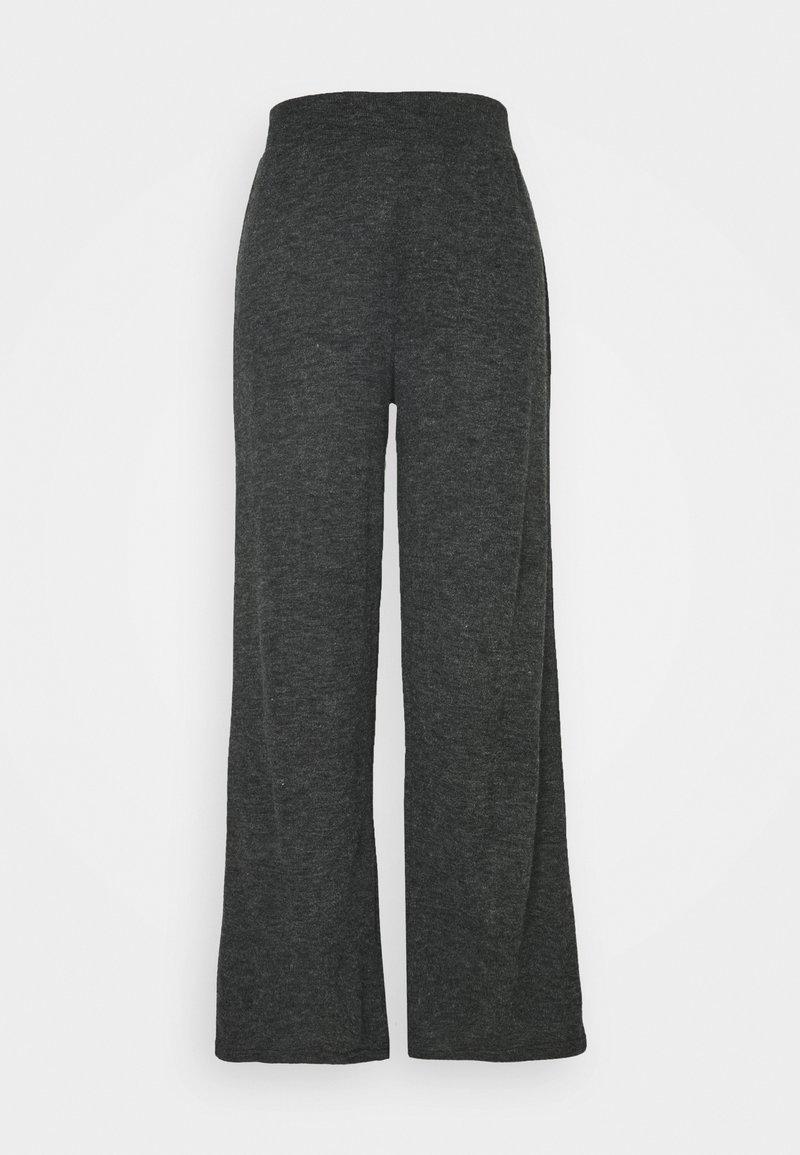 ONLY - ONLKAYLEE PANTS - Trousers - dark grey melange