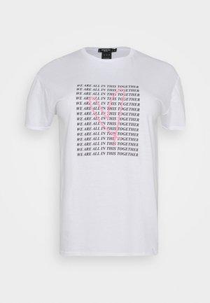 SLOGAN - Camiseta estampada - white