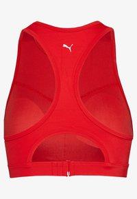 Puma - SWIM WOMEN RACERBACK - Bikini top - red - 1