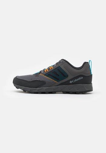 FLOW DISTRICT - Hiking shoes - dark grey/cyan blue