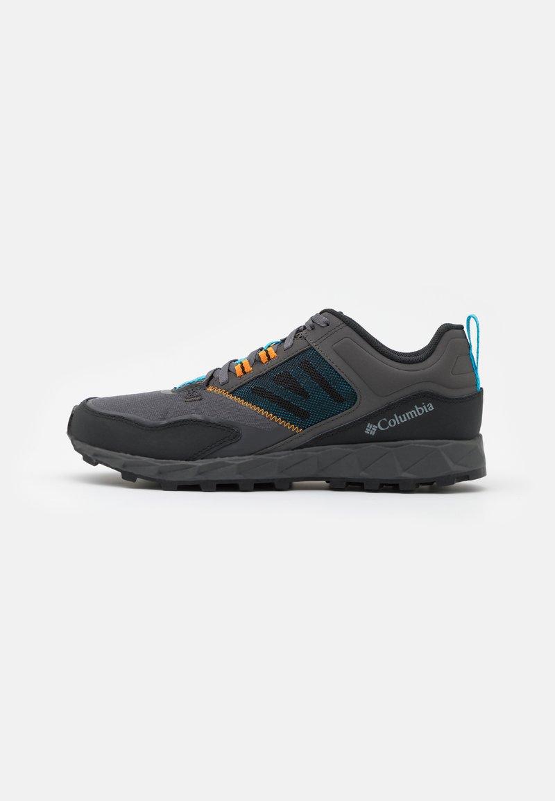 Columbia - FLOW DISTRICT - Hiking shoes - dark grey/cyan blue