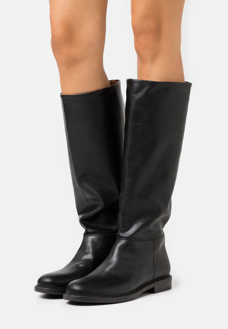 Trussardi - BOOT LISCIO - Vysoká obuv - black