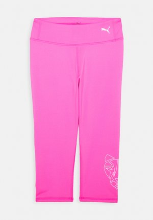 RUNTRAIN 3/4 - 3/4 sports trousers - luminous pink