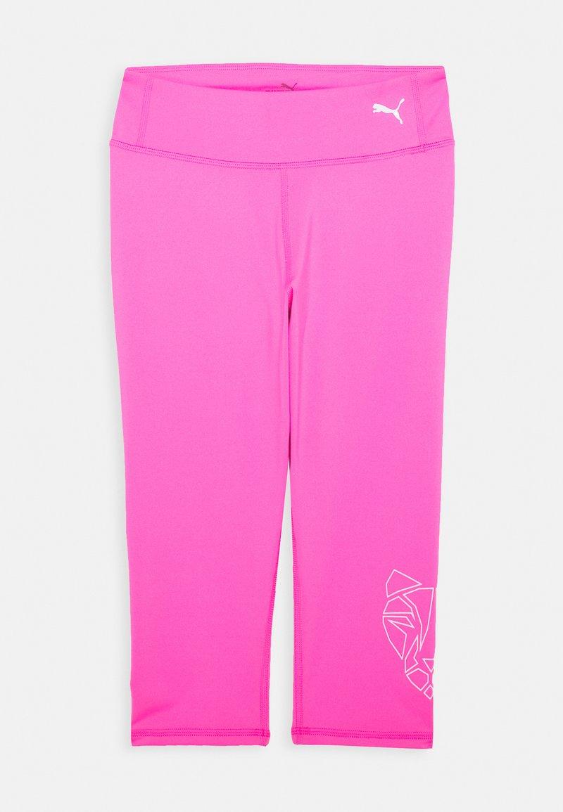 Puma - RUNTRAIN 3/4 - 3/4 sportovní kalhoty - luminous pink