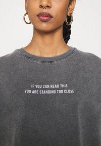 Even&Odd - Printed Oversized Sweatshirt - Sweatshirt - dark grey - 7
