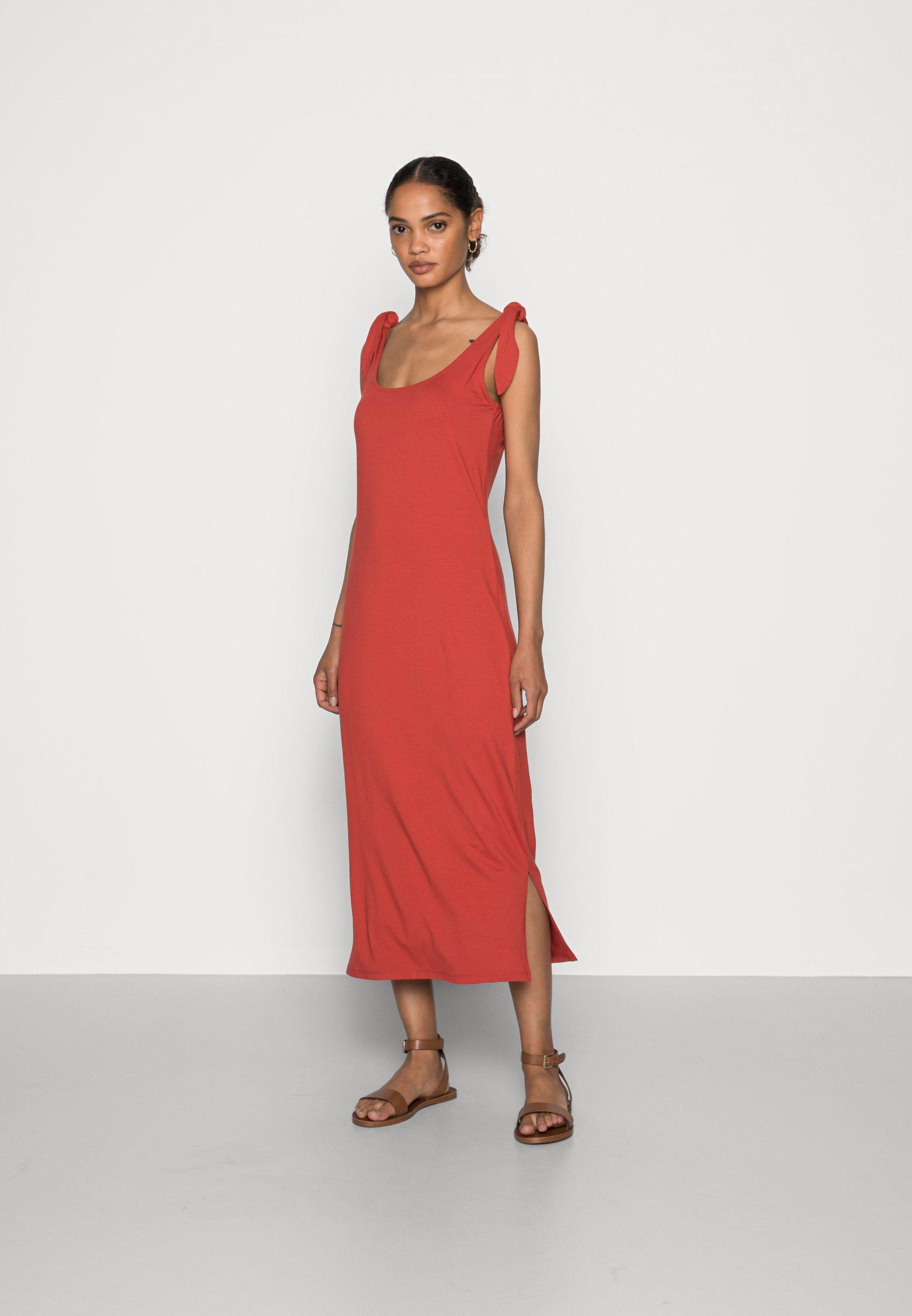 TIE DRESS   Jerseykleid   terracotta