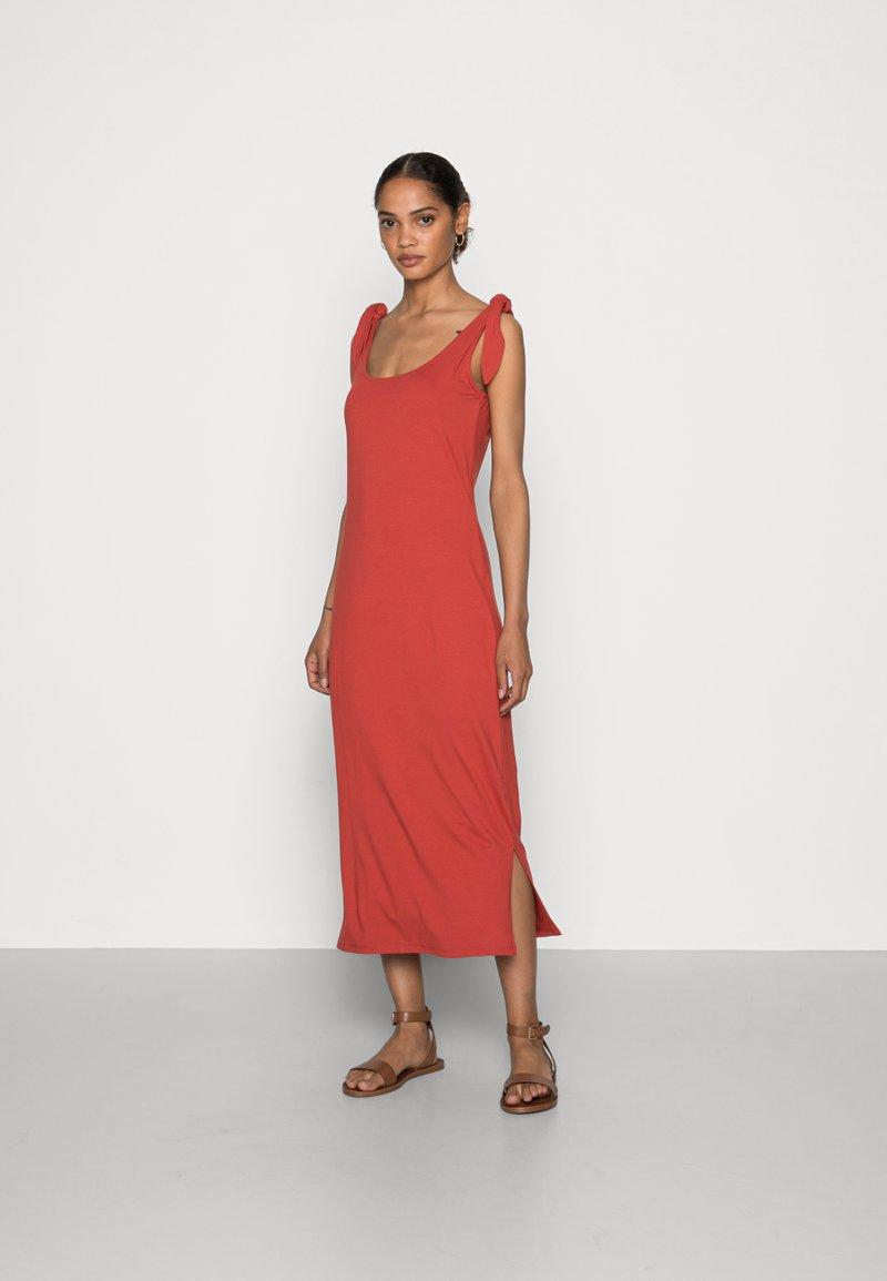 edc by Esprit - TIE DRESS - Jersey dress - terracotta