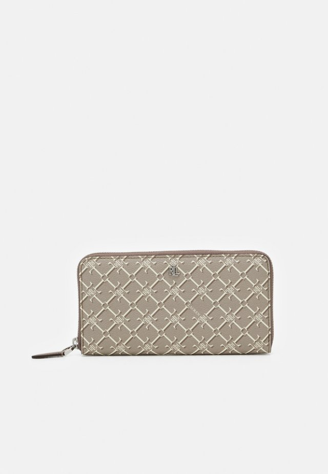 COATED ZIP - Wallet - taupe heritage