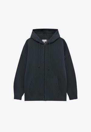 MIT KAPUZE - Zip-up sweatshirt - mottled dark grey
