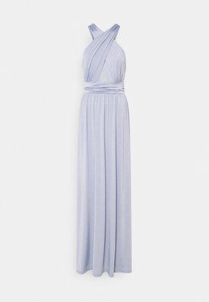 HALTERNECK WRAP GOWN - Společenské šaty - dusty blue