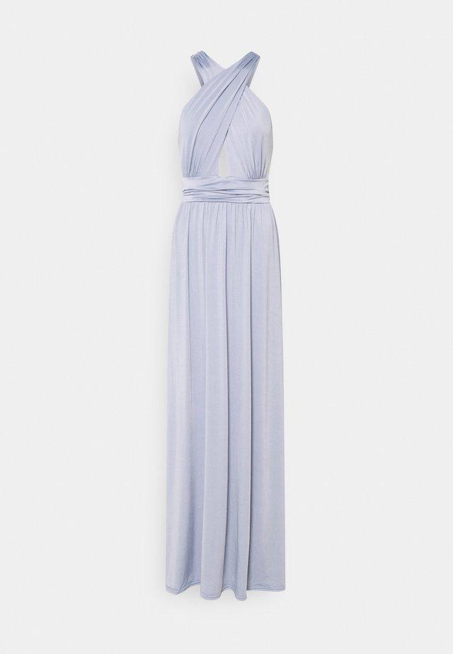 HALTERNECK WRAP GOWN - Robe de cocktail - dusty blue