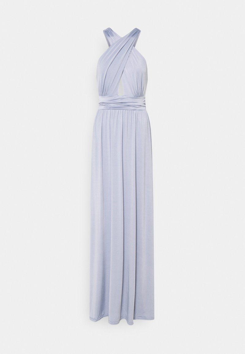 Nly by Nelly - HALTERNECK WRAP GOWN - Ballkjole - dusty blue