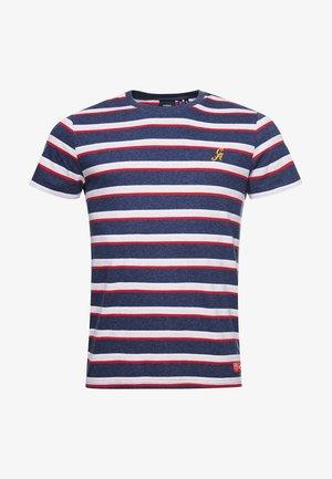 COLLEGIATE APPLIQUE - T-shirt print - navy marl stripe