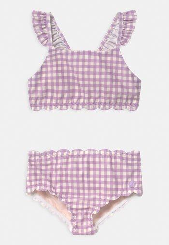 HIGH WAIST WITH SCALLOP EDGES - Bikini - multi-coloured