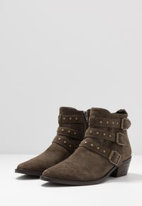 Steven New York - PIPPER - Cowboy/biker ankle boot - dark taupe - 4