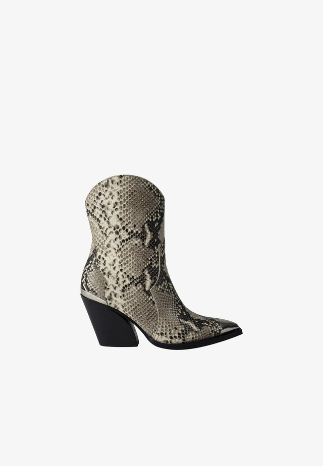 FENYA - Cowboy/biker ankle boot - beige