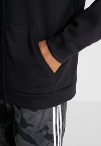 adidas Performance - CAMO LIN - Sweatjacke - black/white/grey one - 3