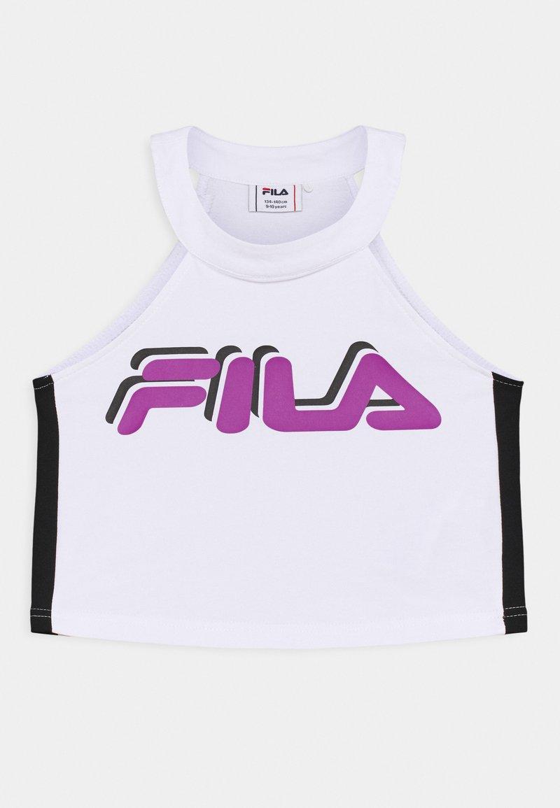 Fila - FIBI CROPPED - Top - bright white/black
