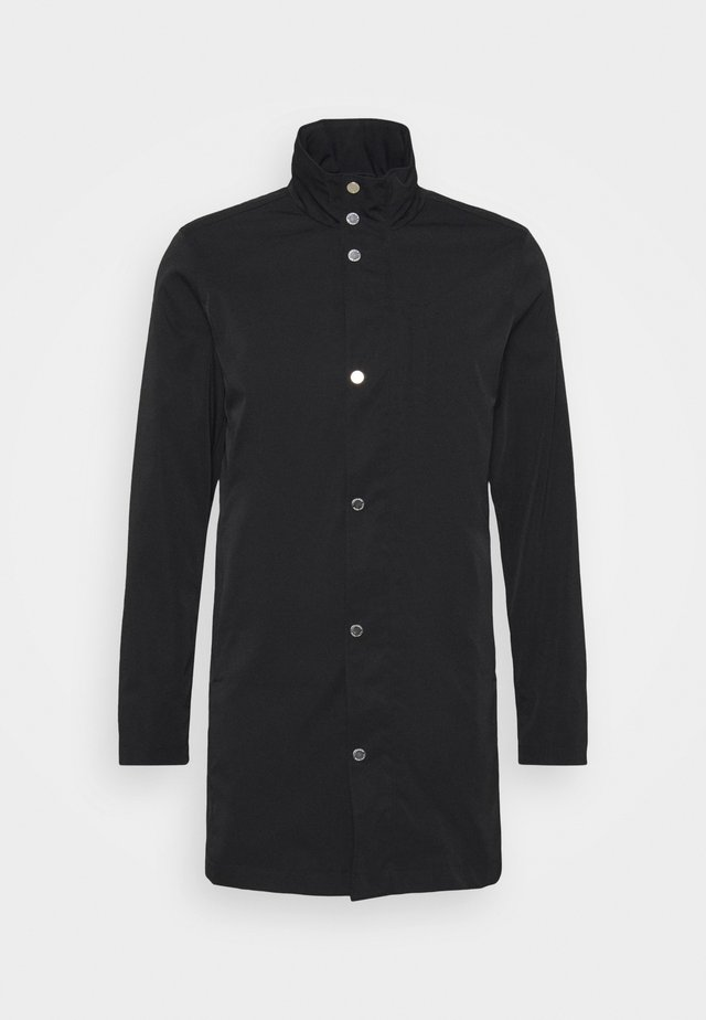 TERRY STRETCH COAT - Manteau court - black