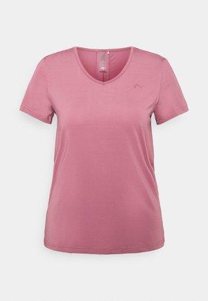 ONPBAKO V NECK TRAINING TEE - Print T-shirt - mesa rose