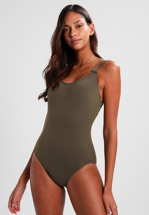 DOUBLE STRAP MAILLOT - Plavky - dark olive