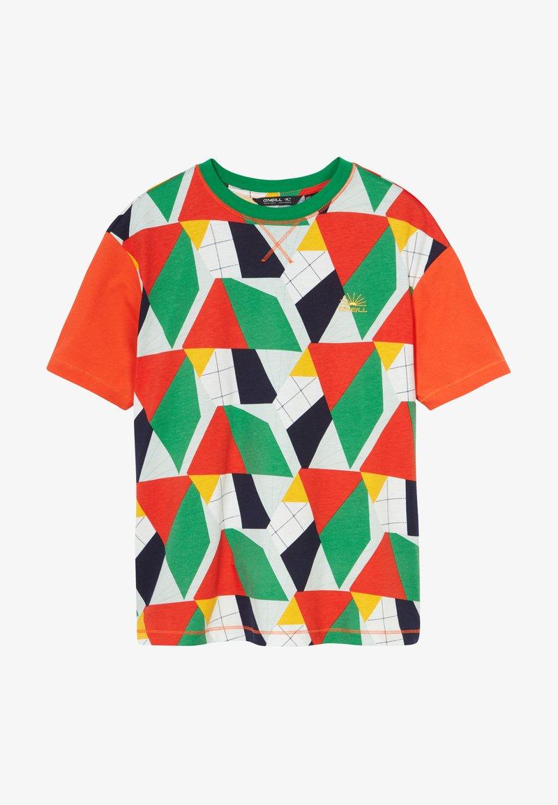 O'Neill - BOXY - T-shirt print - green/yellow