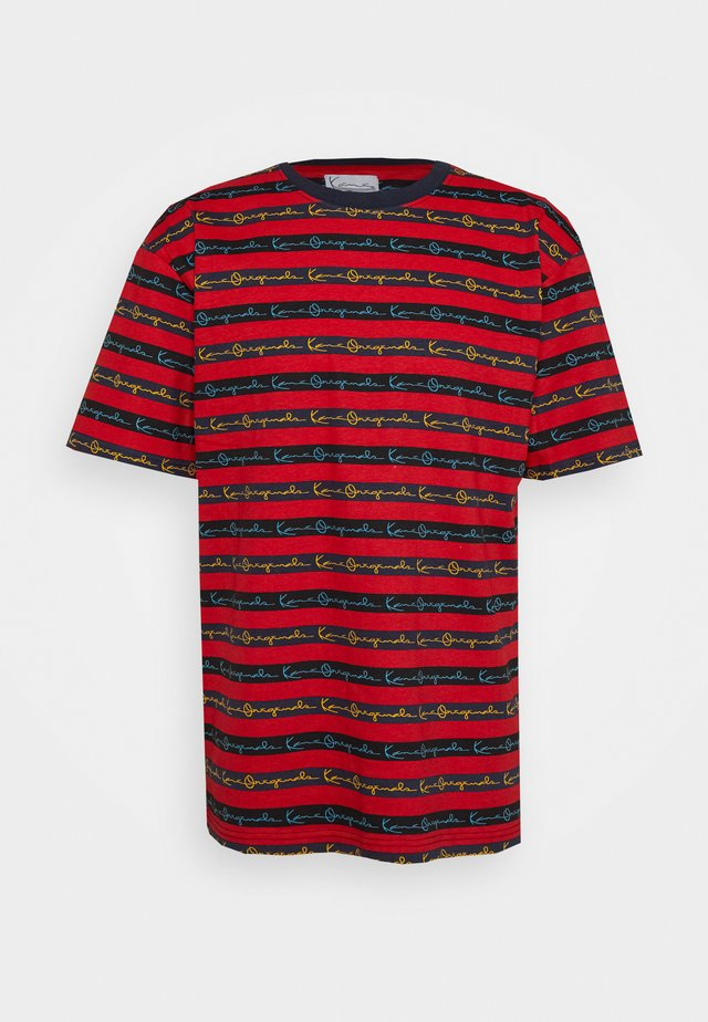 STRIPE TEE - T-shirts print - red