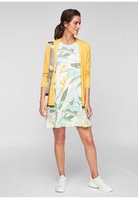 s.Oliver - MET RUGHALS - Jersey dress - cream aop - 1
