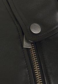KARL LAGERFELD - BIKER JACKET - Leather jacket - black - 3