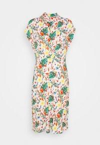 TOM TAILOR - DRESS WITH DRAPED COLLAR - Denní šaty - white - 0