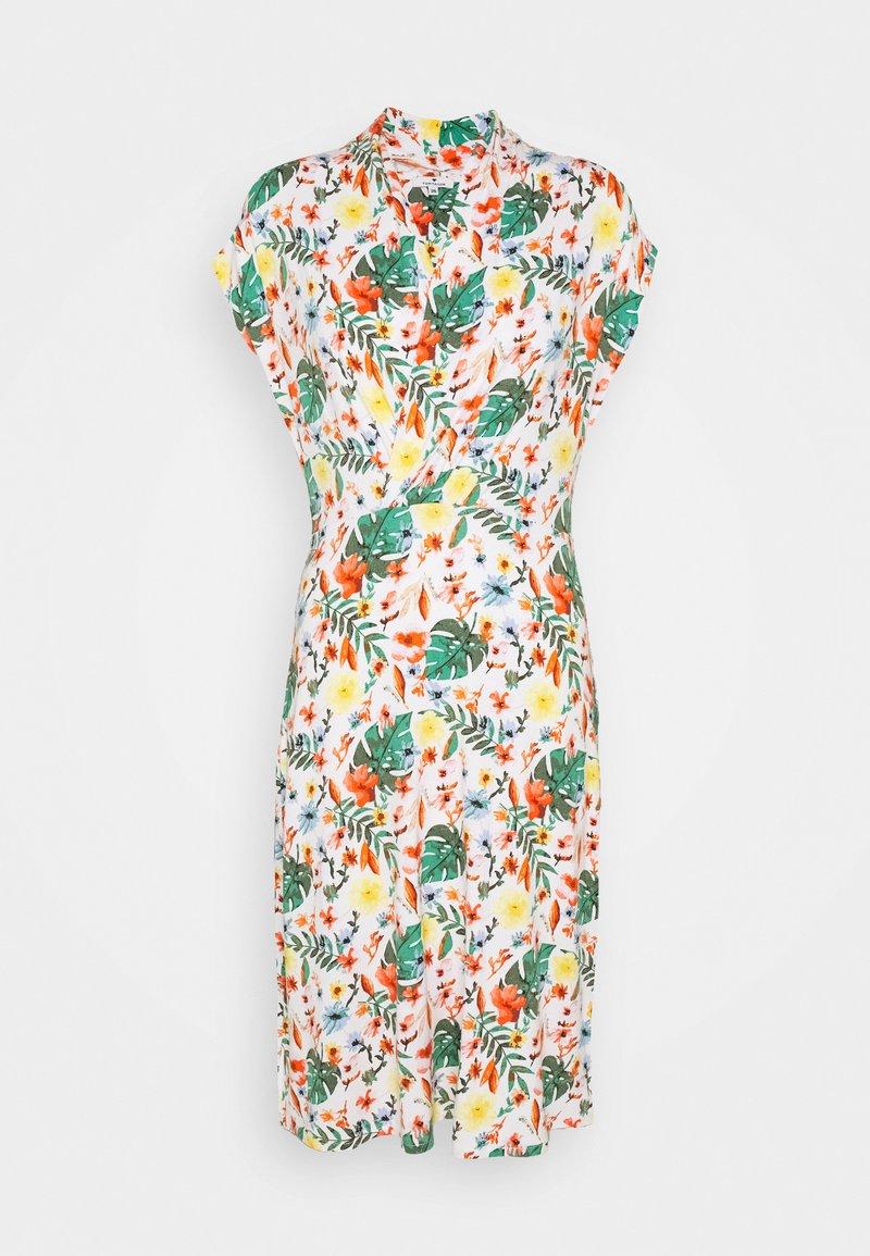 TOM TAILOR - DRESS WITH DRAPED COLLAR - Denní šaty - white