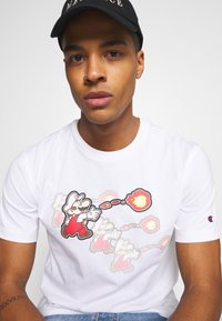 Champion Rochester - CREWNECK NINTENDO - Print T-shirt - white - 4