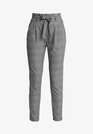 VMEVA PAPERBAG CHECK PANT - Broek - grey/white