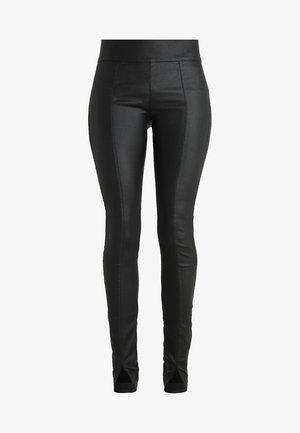 BELUS SLIT PANTS KATY ANKLE - Leggings - Trousers - pitch black