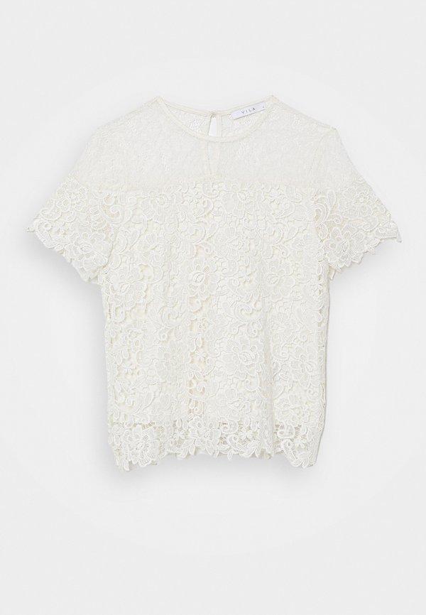 Vila VIJUANA - T-shirt z nadrukiem - cloud dancer/biały CVUA