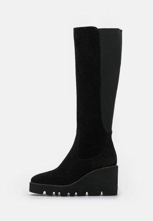ZEPPA - Plateaustøvler - black