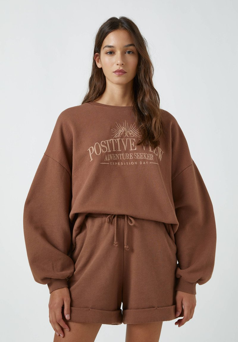 PULL&BEAR - Sweatshirt - brown