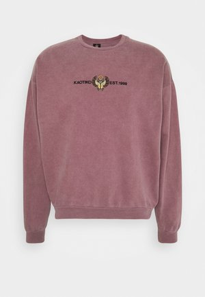 CREW WASHED BEETLE - Sweatshirt - bordeaux