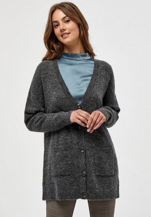 ROSIA LONG - Cardigan - dark grey melange