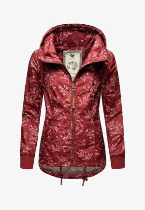 DANKA LEAVES - Outdoor jacket - wine red
