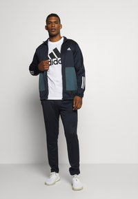 adidas Performance - FABRIC MIX AEROREADY SPORTS TRACKSUIT - Tracksuit - dark blue - 1