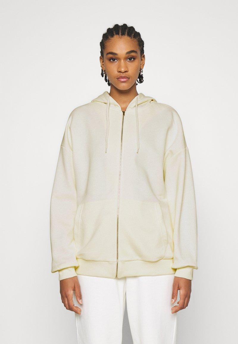 NA-KD - NA-KD X ZALANDO EXCLUSIVE ZIP HOODIE - Zip-up hoodie - off-white