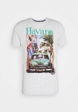 CAYOX - T-Shirt print - ecru marl