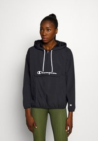 Champion - HALF ZIP - Windbreaker - black - 0